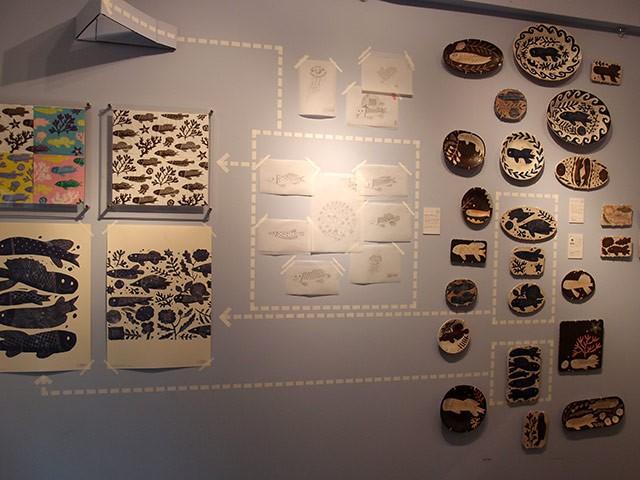 doinel(ドワネル)で行われた鹿児島睦の図案展