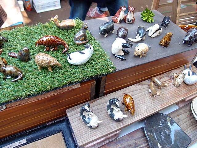 陶器の動物たち