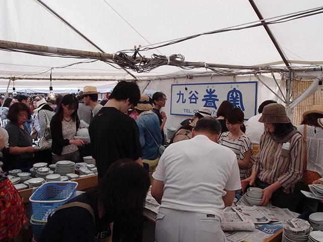 九谷茶碗まつりの九谷青窯