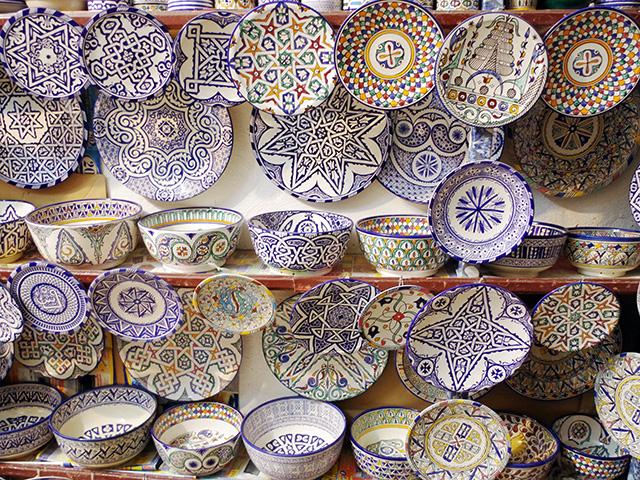 古都フェズで見つけたカラフルな陶器