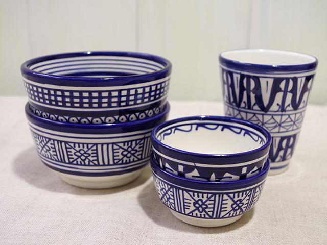 フェズブルーと呼ばれるフェズ特産の陶器