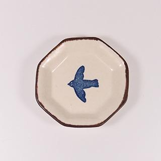 かとうようこさんの鳥モチーフの豆皿